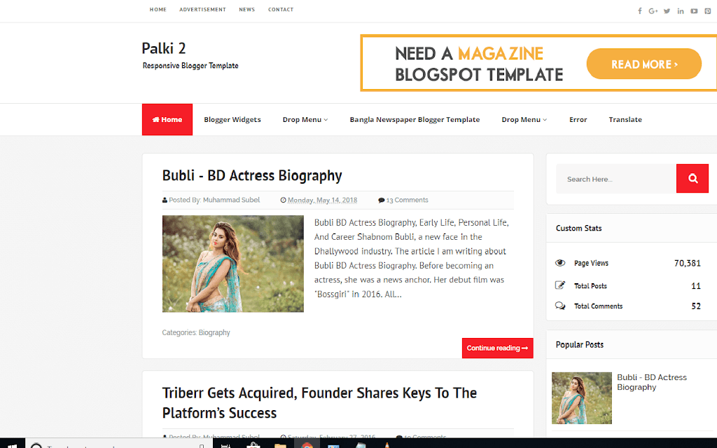 palki blogger template