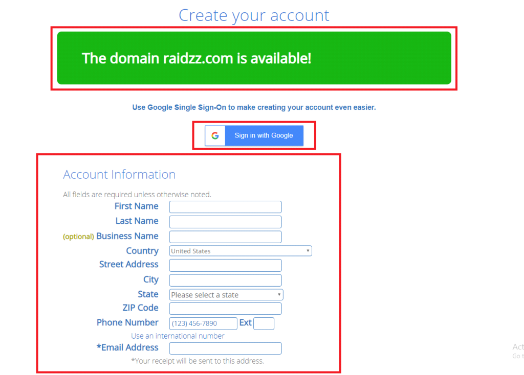 create-account-on-bluehost