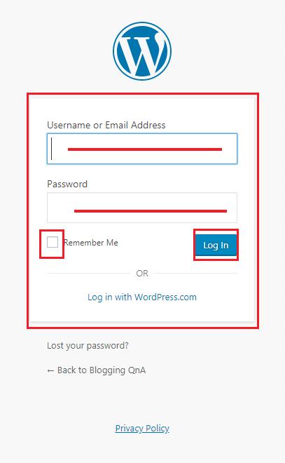 wordpress-username-and-password