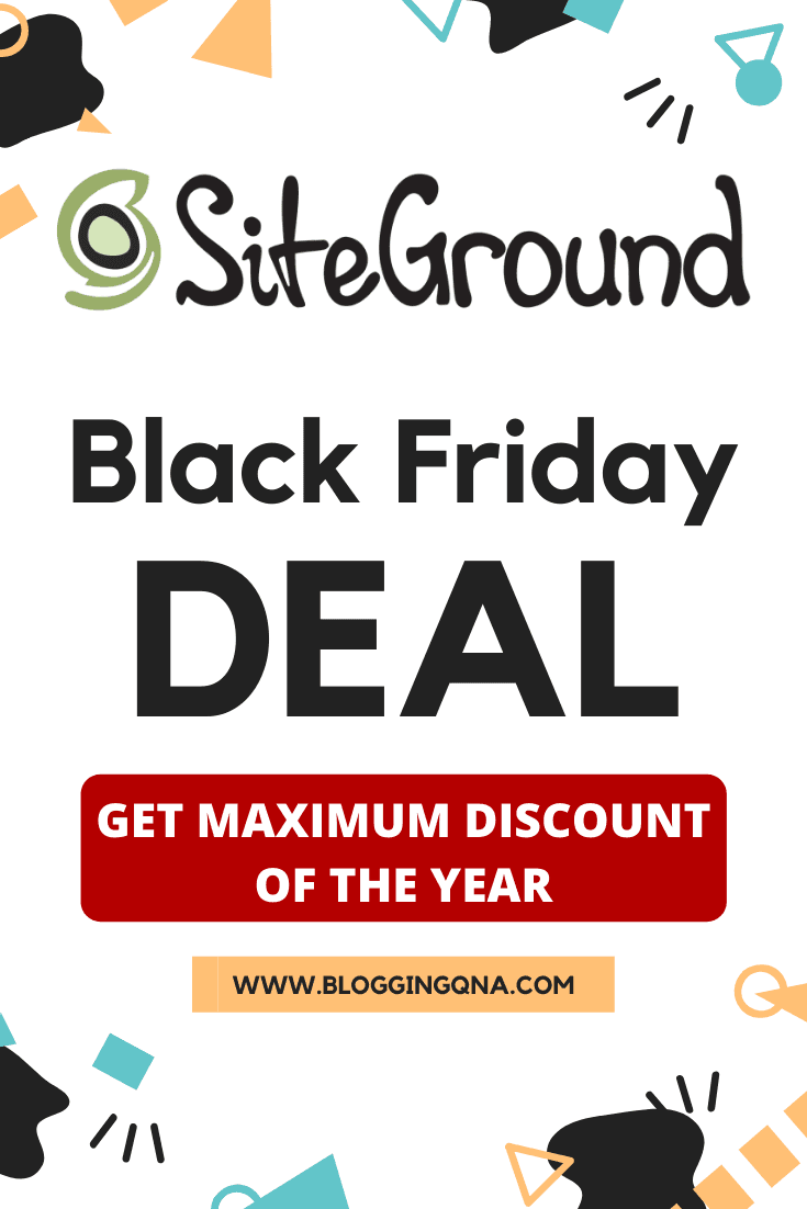siteground hosting black friday deal