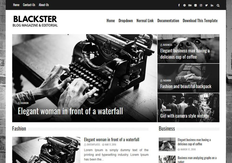 blackster Blogger Template