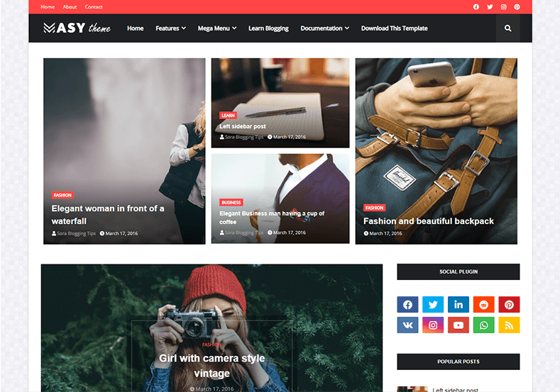 Masy-Blogger-Template