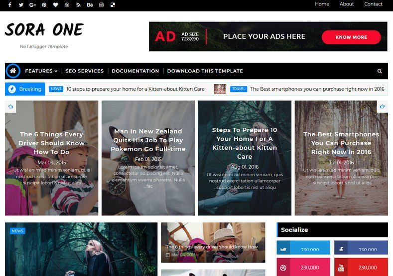 Sora-One-Blogger-Template