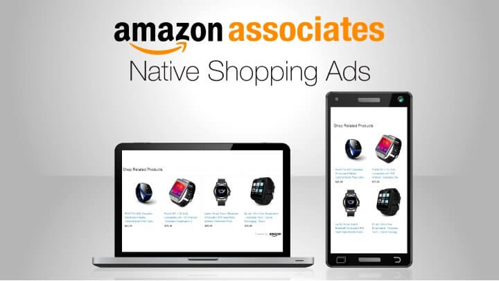 amazon native shopping ads -  adsense alternative