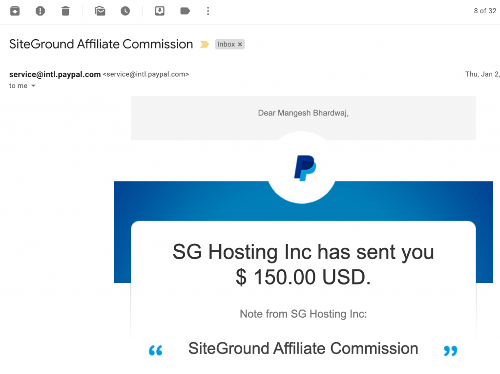 affiliate marketing proof