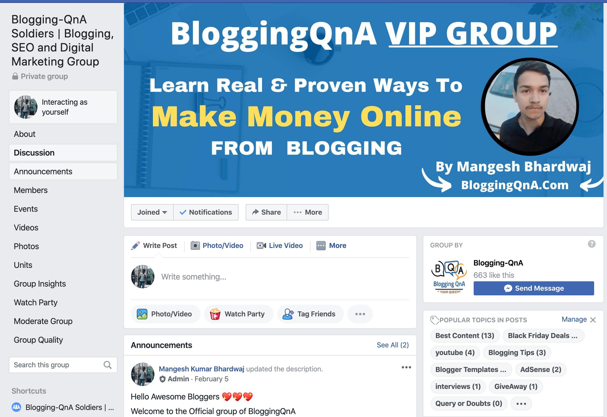 bloggingqna facebook group