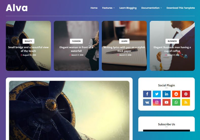 Alva-Blogger-Template