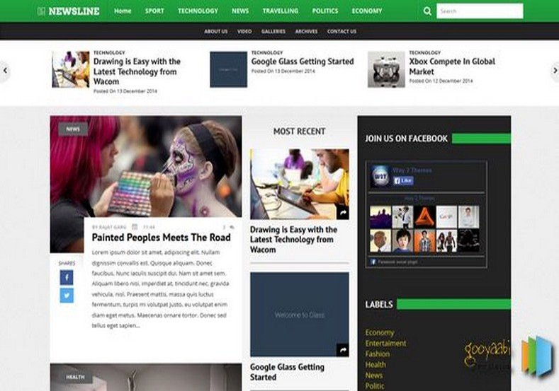 Newsline-3-Columns-Blogger-Template