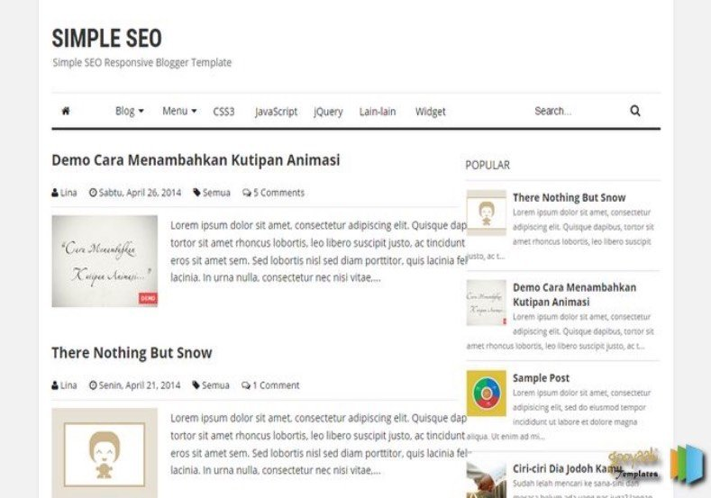 Simple-SEO-Blogger-Template