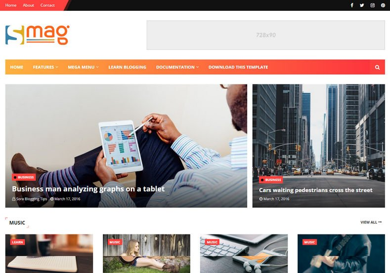 Smag-Blogger-Template