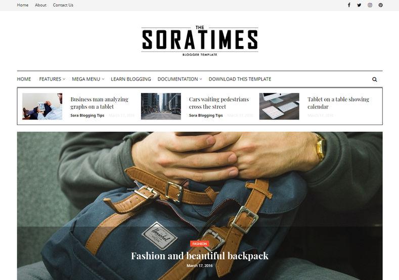 Sora-Times-Blogger-Template