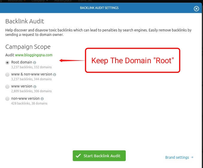 keep the domain root