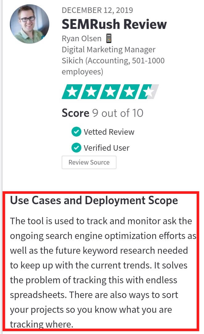 semrush review from user