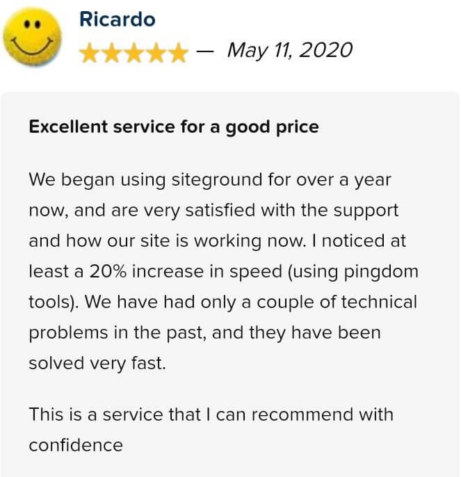 ricardo blogger siteground review