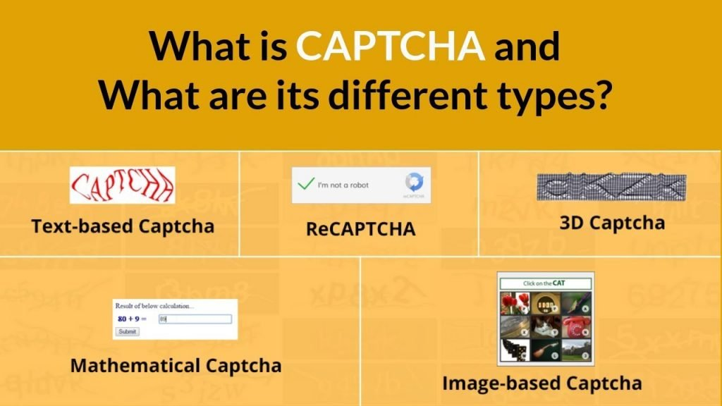 types of captcha