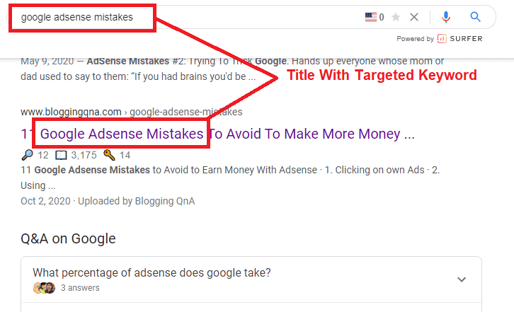 title with targeted keyword