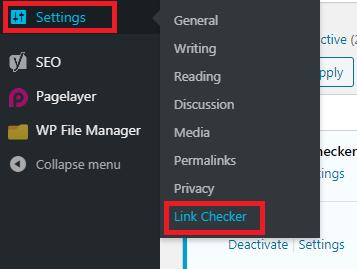 wordpress menu backlink checker