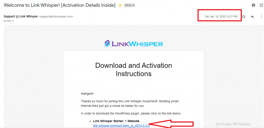 link whisper purchase invoice