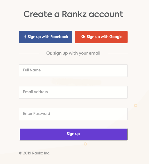 create account on flyout